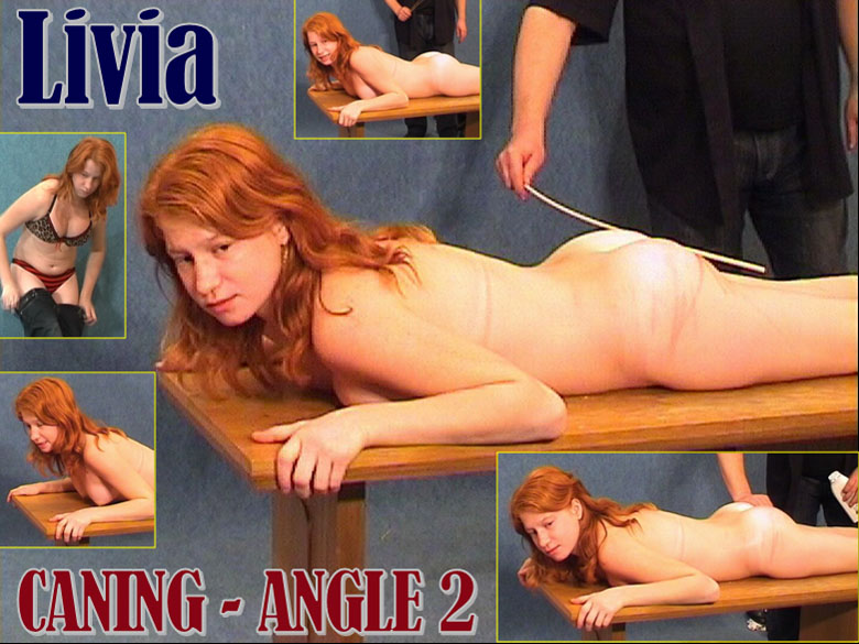 Spanking Casting - Livia Hard Caning Casting - Angle 2. free pictures